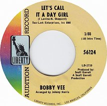 Image result for lets call it a day girl bobby vee single images