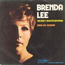 Image result for you don't need me anymore brenda lee images