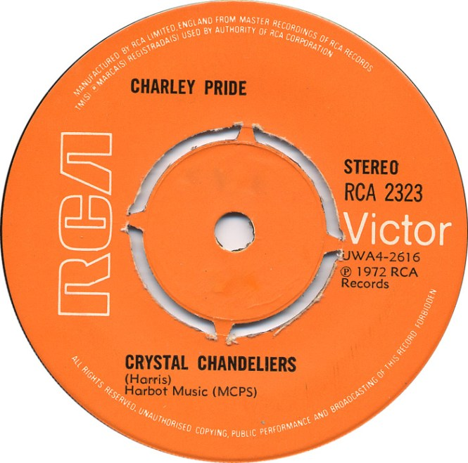 45cat Charley Pride Crystal Chandeliers I Ll Wander Back To You Rca Victor Uk 2323