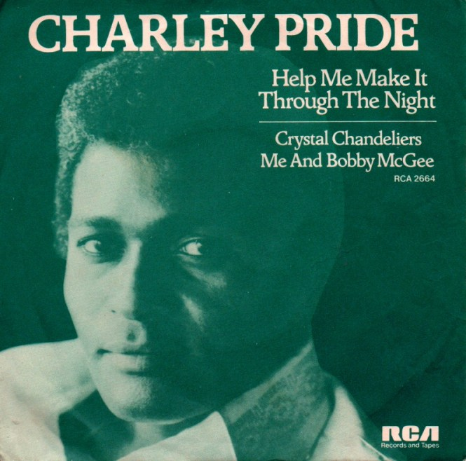 45cat Charley Pride Help Me Make It Through The Night Crystal Chandalier Rca Victor Uk 2664