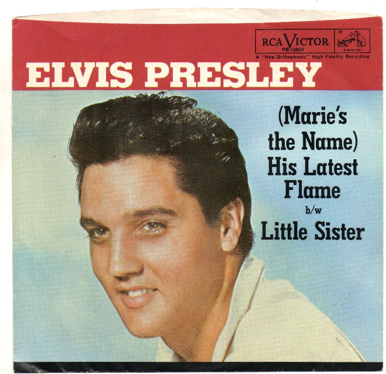 Image result for elvis His Latest Flame / Little Sister