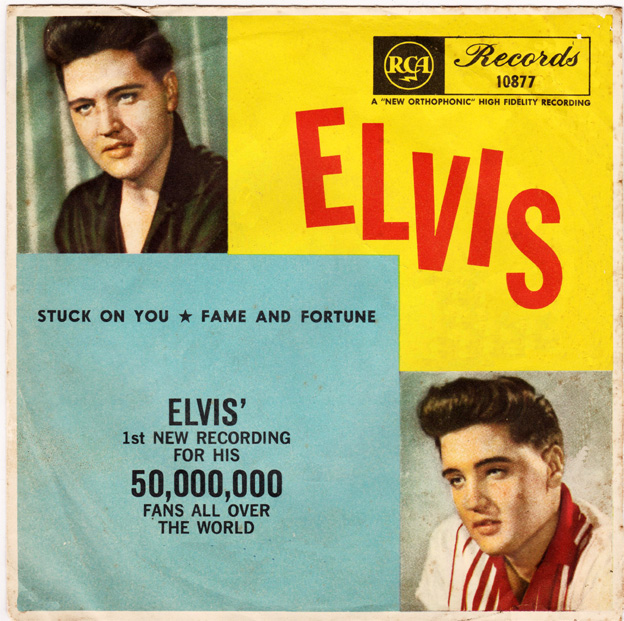 "Image result for elvis presley Stuck On You"" and ""Fame And Fortune"""