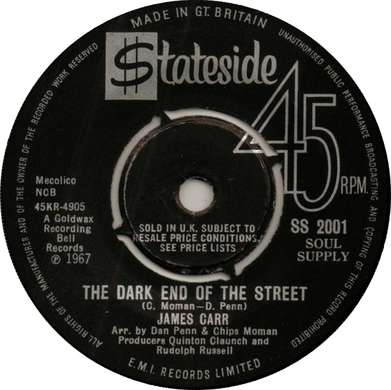 Image result for james carr dark end of the street