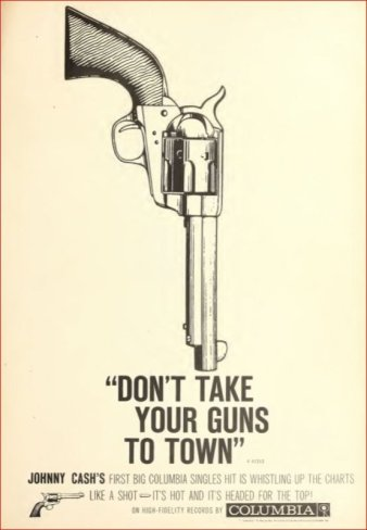 Image result for dont take your guns to town