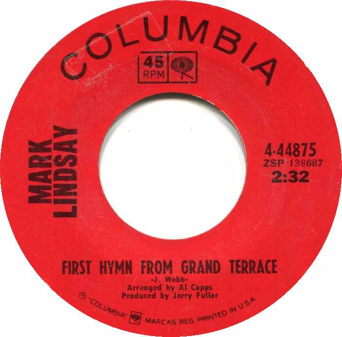 Image result for first hymn from grand terrace mark lindsay single images