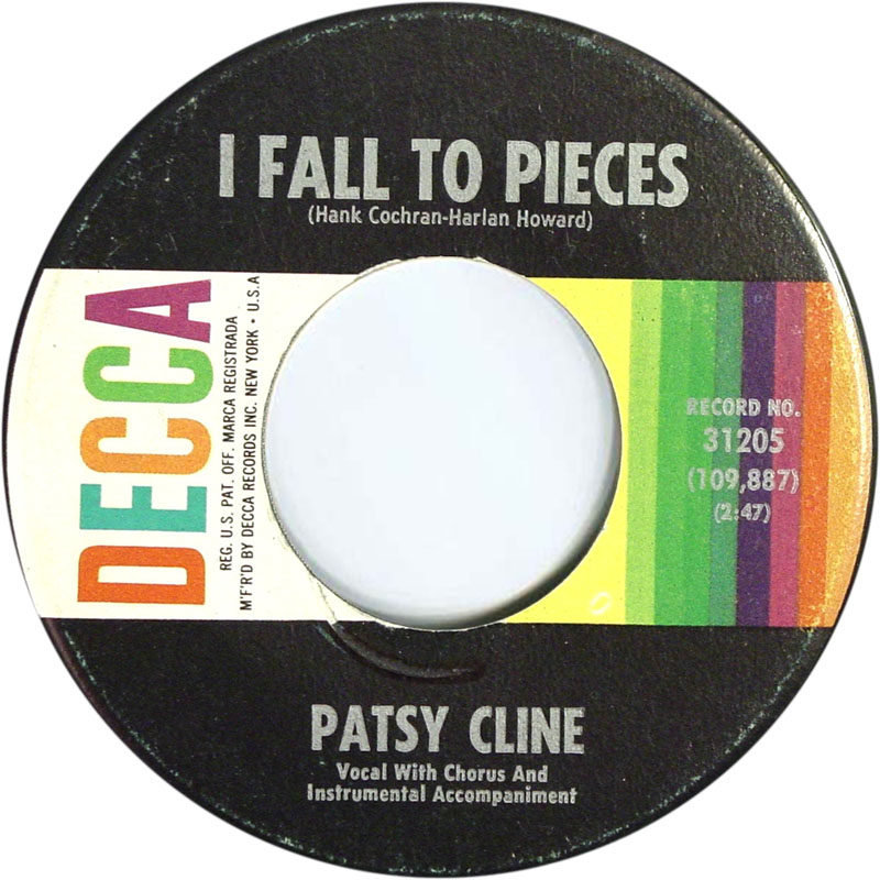 Image result for patsy cline i fall to pieces