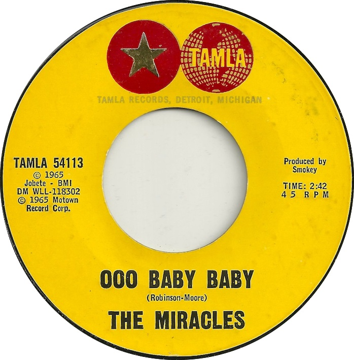 45cat The Miracles Ooo Baby Baby All Thats Good