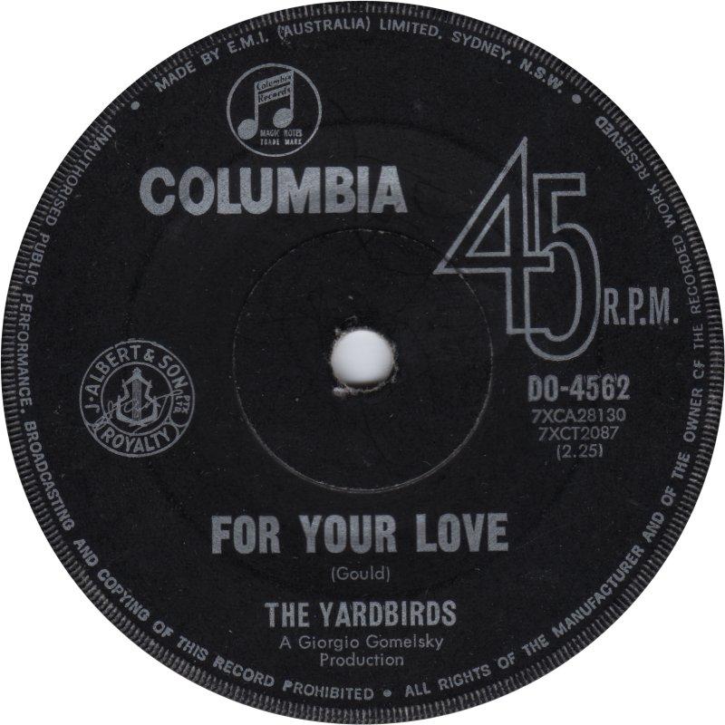 Love Yardbirds Chords Your