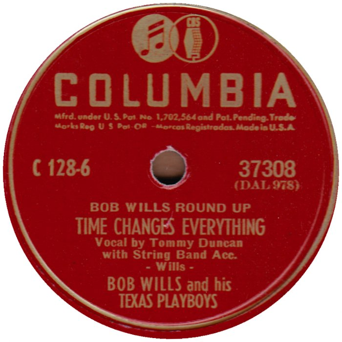 Image result for bob wills and his texas playboys time changes everything images