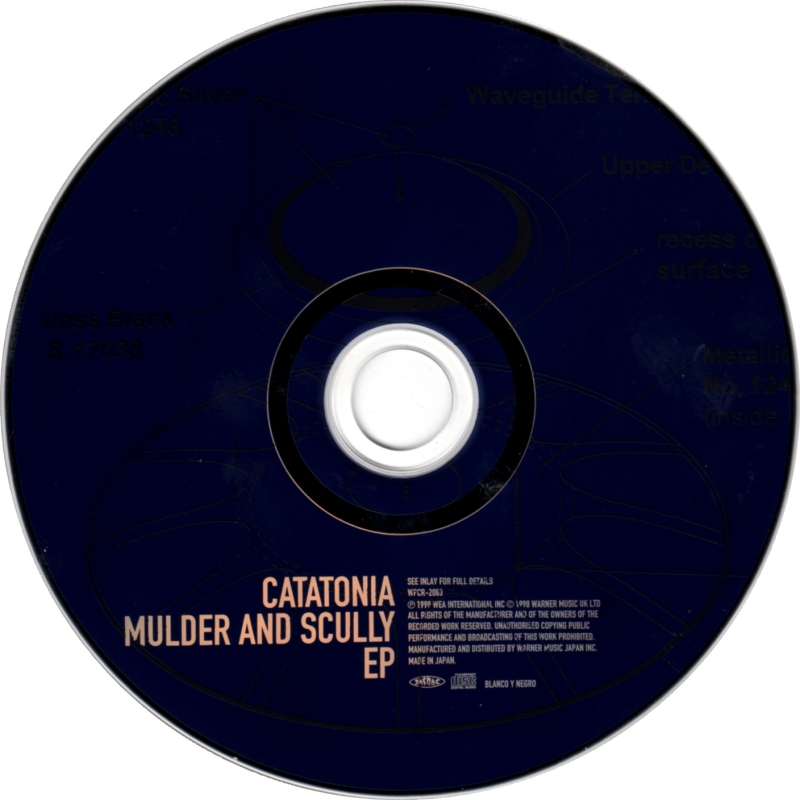 Cd Album Catatonia Mulder And Scully Ep Blanco Y