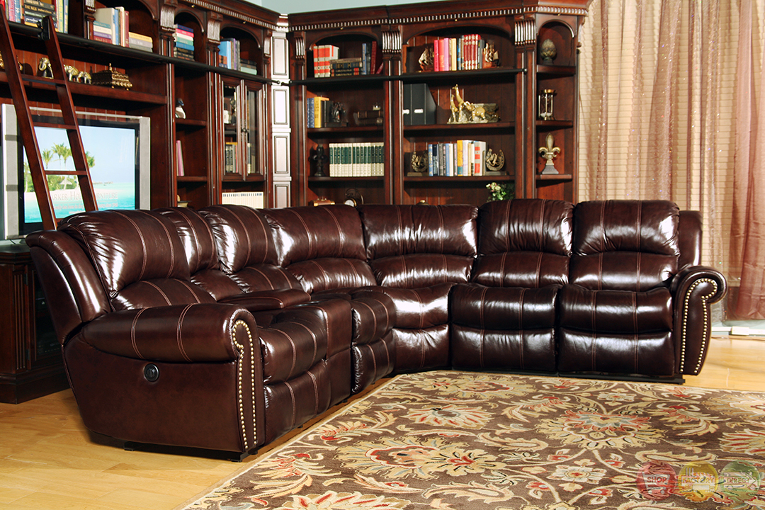 Parker Living Poseidon Traditional Brown Leather Power