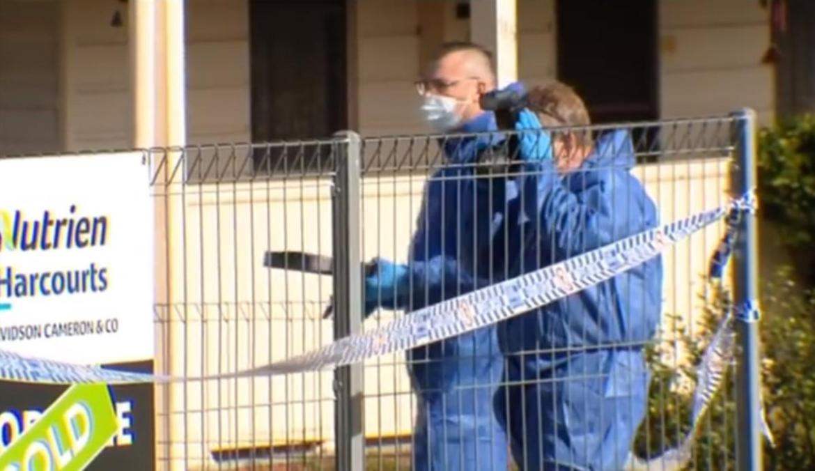 Forensic police at the Inverell home.