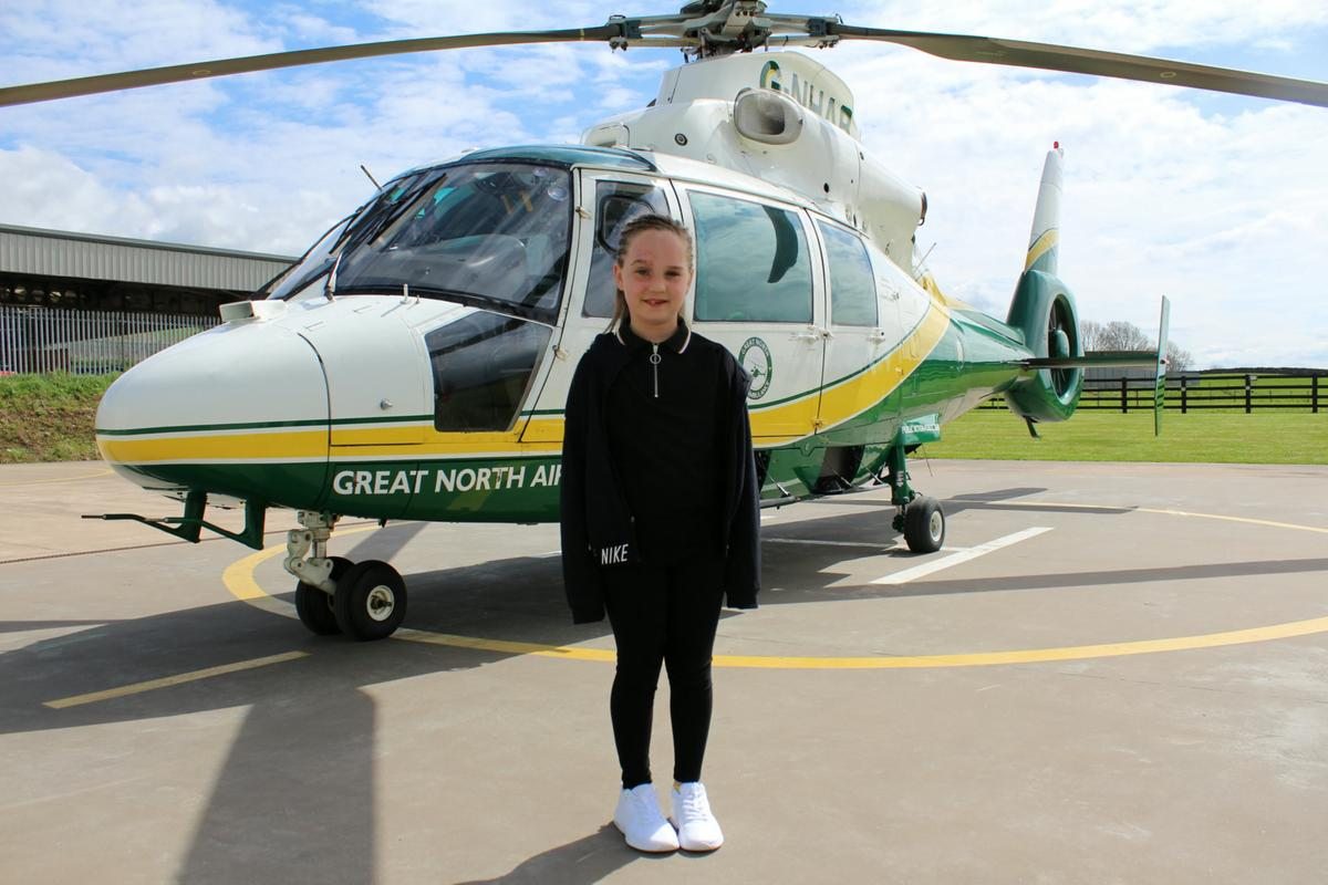 Air ambulance crews came to the rescue of Alannah.