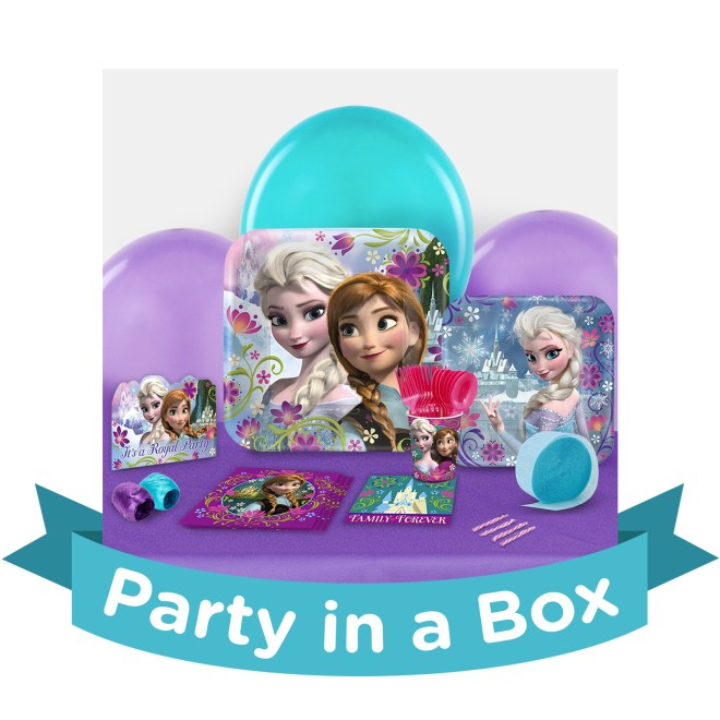 Custom Frozen Birthday Party Supply Kit
