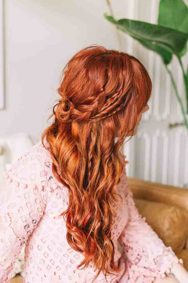 braided wavy boho hair tutorial - a beautiful mess