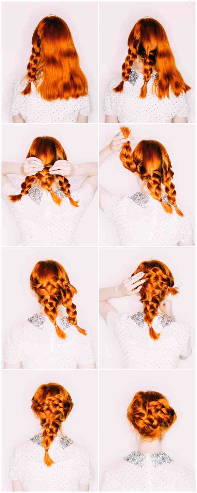 easy wedding hair— a triple braided updo - a beautiful mess