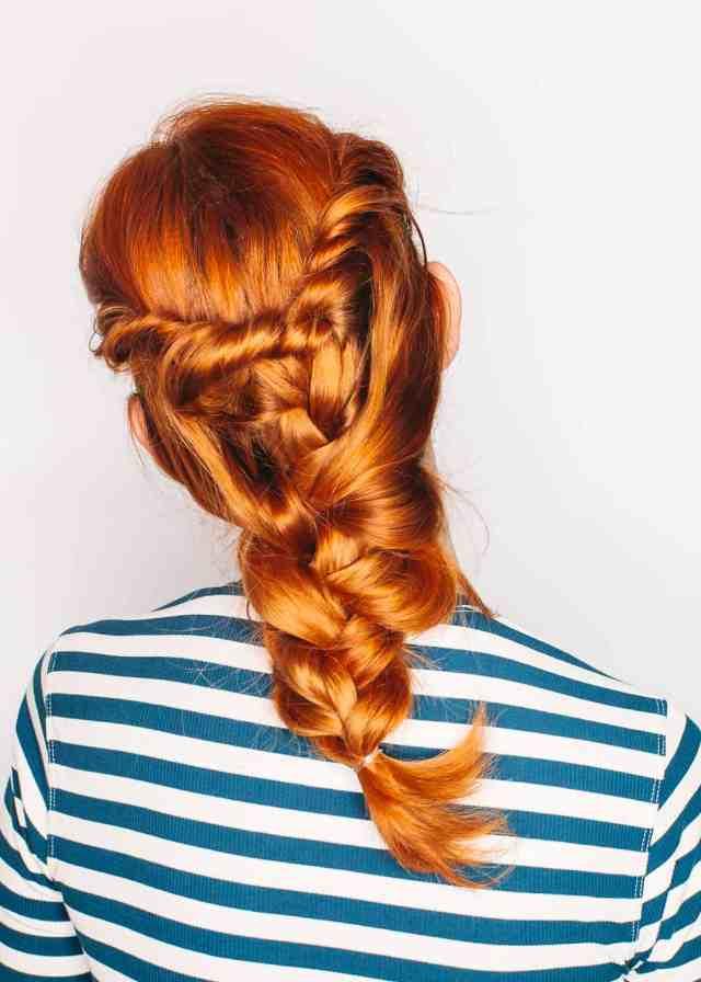 a twist on the classic three-strand braid - a beautiful mess