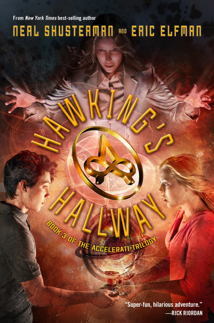 The Accelerati Trilogy Book Three Hawking's Hallway by Neal Shusterman| wearewordnerds.com
