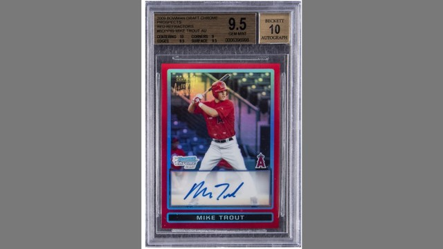 $900,000 Mike Trout Rookie Card Highlights Record-Breaking ...