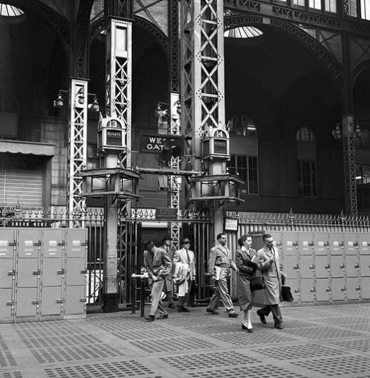 Entrance to tracks, 1958. Image © Nick DeWolf Photo Archive