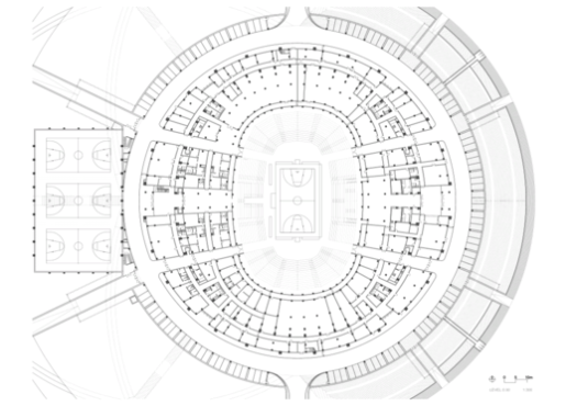 Basketball Stadium in Dongguan / gmp architekten. Planta
