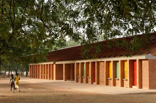 The Gando School Extension in Gando, Burkina Faso. Image © Erik Jan Ouwerkerk