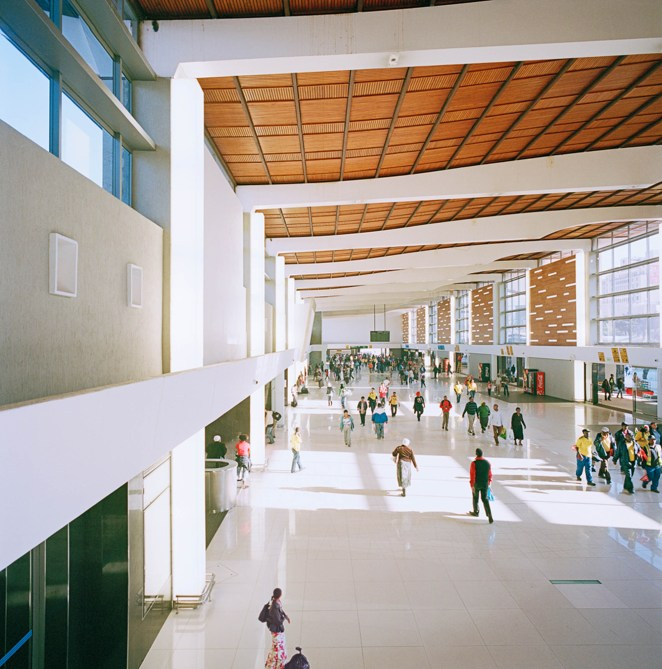 The interior of the Cape Town Station Refurbishment. Image © Peter K Photography