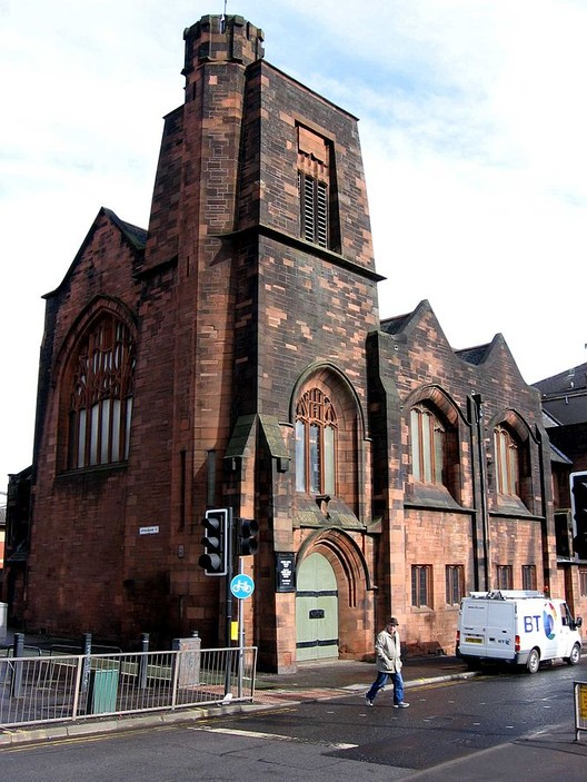 Queen's Cross Church, Glasgow designed by Charles Rennie Mackintosh. Image © <a href='https://commons.wikimedia.org/wiki/File:Queens_Cross_Church07a.jpg'>Wikimedia user dave souza</a> licensed under <a href='https://creativecommons.org/licenses/by-sa/3.0/deed.en'>CC BY-SA 3.0</a>