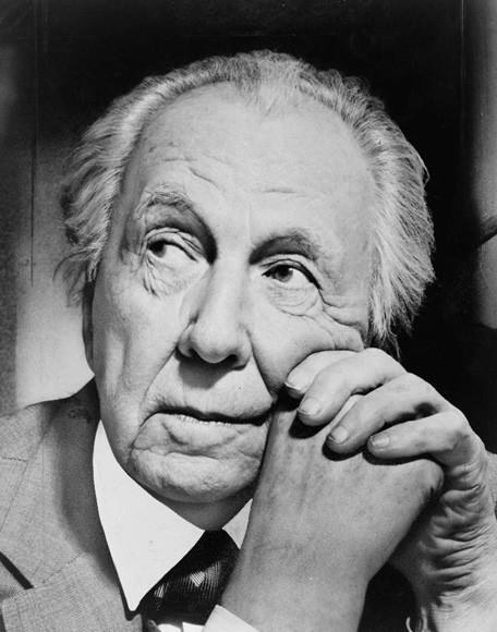 Image <a href='https://commons.wikimedia.org/wiki/File:Frank_Lloyd_Wright_portrait.jpg'>via Wikimedia</a>. Photograph by Al Ravenna in the public domain.
