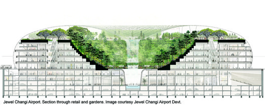 "Plan for Singapore's new ""Air Hub"". Image Courtesy of Safdie Architects"