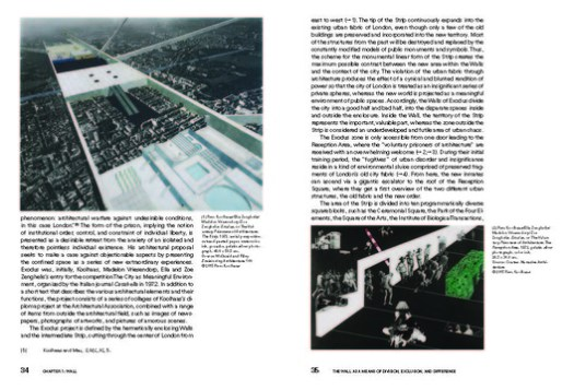 Excerpt from 1. Wall: Exodus, or the Voluntary Prisoners of Architecture, London 1972. Image Courtesy of Jovis Publishers
