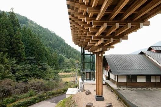 Yusuhara Wooden Bridge Museum. Image © Takumi Ota Photography