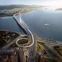 © Danjiang Bridge by Zaha Hadid Architects, render by VisualArch