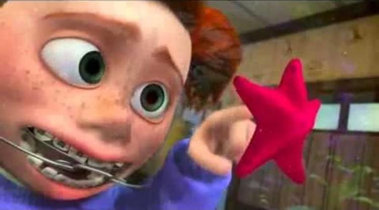 """Procurando Nemo"""" mostra um aquário comum e como seus habitantes vêm os humanos do outro lado do vidro. Imagem © Pixar"""