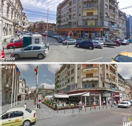 Strada Halelor, Bucarest, Romênia. Cortesia de Urb-I