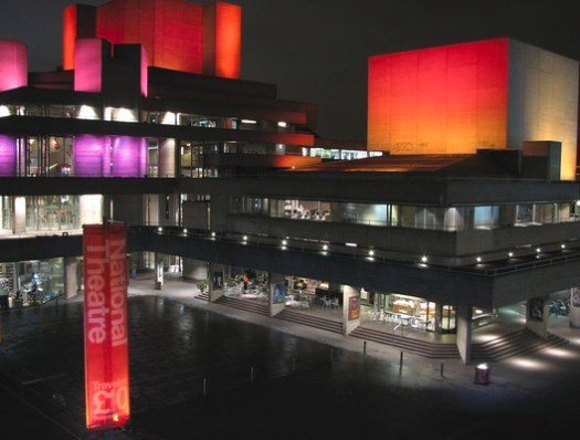 New exterior lighting at the National Theatre. Image © flickr user garryknight