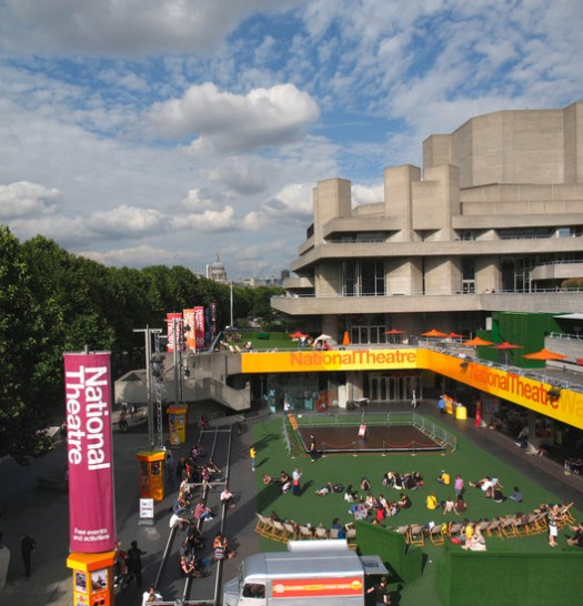 National Theatre with view of St. Paul's Cathedral in the distance. Image © flickr user alanstanton