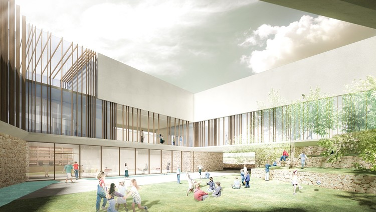 Innovative Bioclimatic European School Third Prize Winning