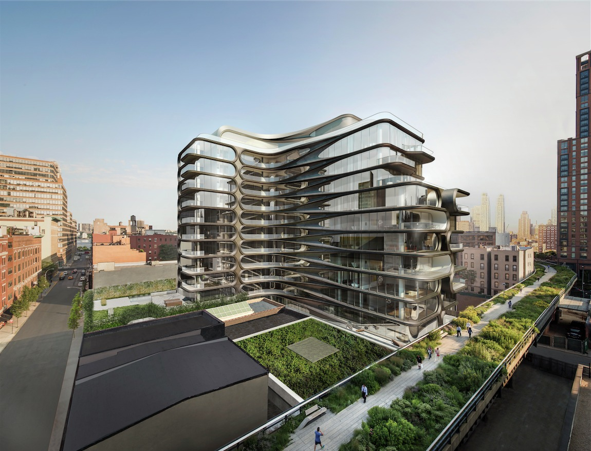 Zaha Hadid. Edificio residencial en High Line. NY