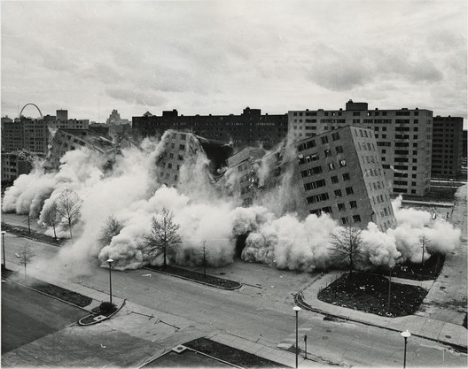 Demolition of Pruitt-Igoe, April 22, 1972. Image Courtesy of U.S. Department of Housing and Urban Development - U.S. Department of Housing and Urban Development