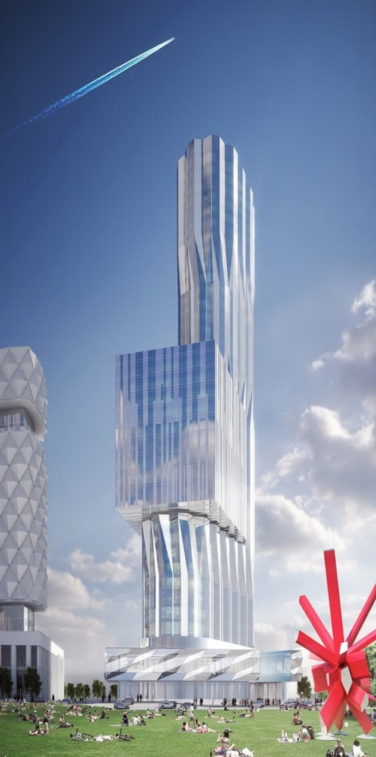 Zil Tower. Image © Asymptote - Hani Rashid & Lise Anne Couture