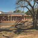 The 2013 Stanford team's Start.Home being reinstalled for a client in Jasper Ridge Biological Preserve. Image © Linda Cicero, Stanford University
