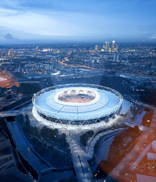 Winner in Leisure-led development Category. London Olympic Stadium Transformation / Populous in London, United Kingdom. Image Courtesy of Populous.