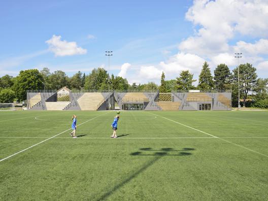 Small Project Prize: Lidingövallen Small Football Stadium (Sweden) / DinellJohansson. Image © Mikael Olsson