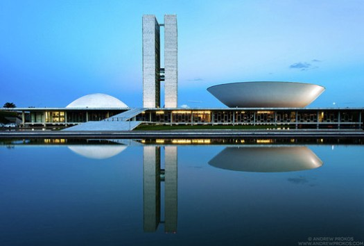 National Congress of Brazil. Image © Andrew Prokos