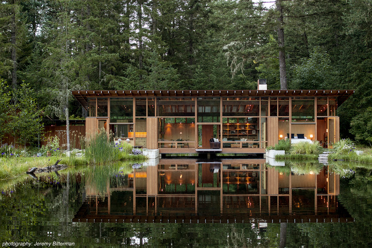 Custom Housing: Newberg Residence; Newberg, OR / Cutler Anderson Architects. Image Courtesy of AIA