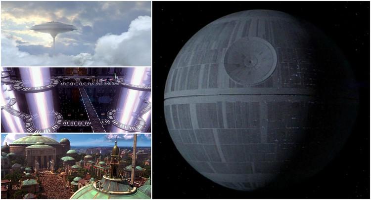 A arquitetura de Star Wars: 7 estruturas icônicas
