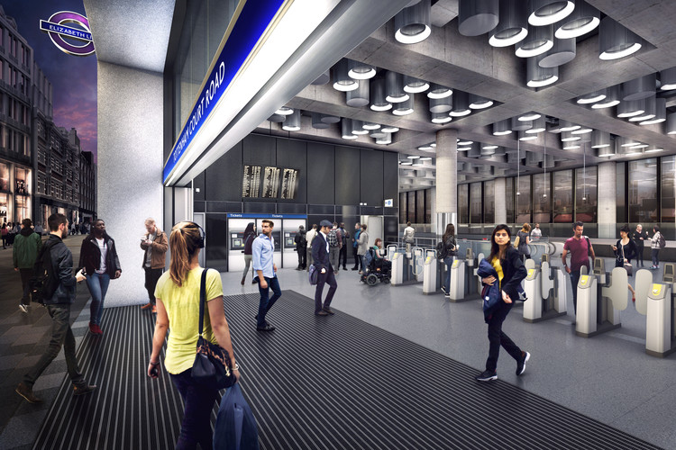 Tottenham Court Road, Proposed Entrance at Dean Street . Image Courtesy of Crossrail