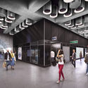 Tottenham Court Road, Proposed Platform Level at Dean Street. Image Courtesy of Crossrail