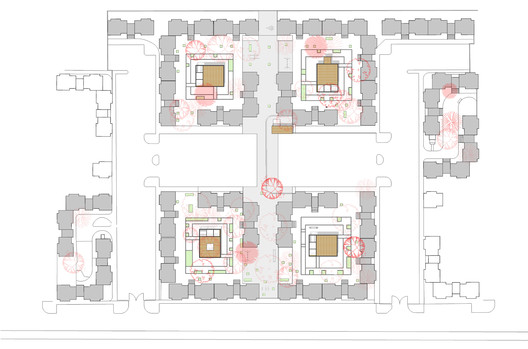 4 Courtyards Plan